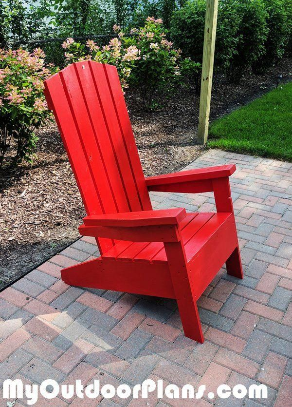 Diy Modern Adirondack Chair Adirondackchairs Outdoor Lounge