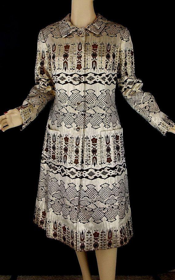 Vintage 60s Leonard Arkin Gold Lame Lurex Coat by TheGutterflowerGypsy,