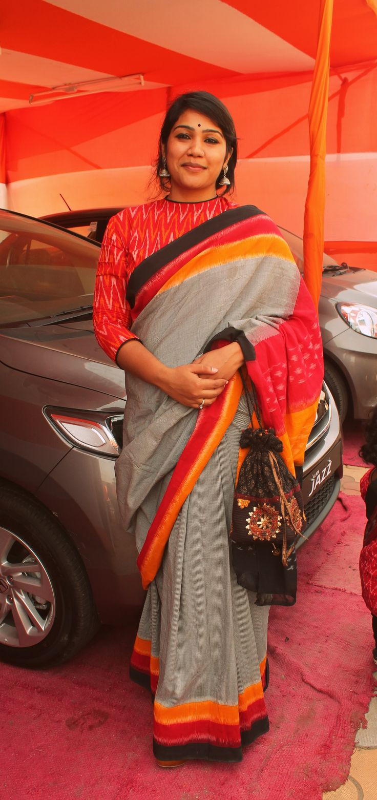 Desi By Nature #100sareepact #saree Mamta Sharma Das Durga Puja 2015 #pujo2015…