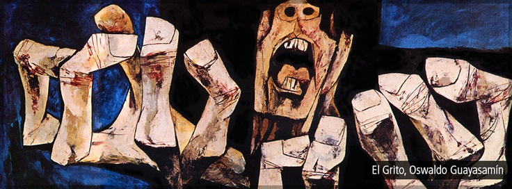 El grito, Oswaldo Guayasamín