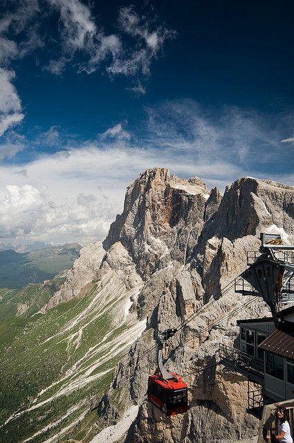 Funivia Rosetta, San martino di castrozza , province of Trentino , Trentino-alto-Aldige region Italy .