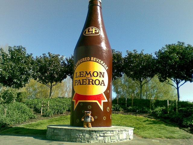giant L&P bottle....sweet as
