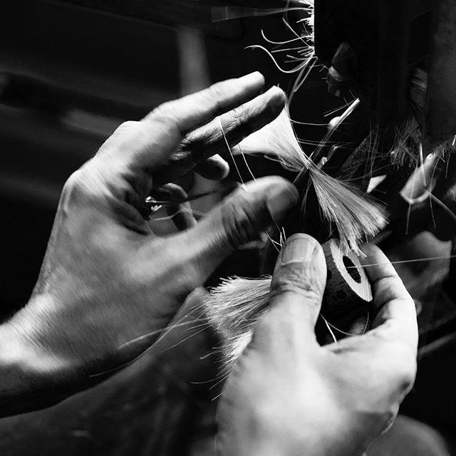 Början till en stående diskborste. #irishantverk #brushes #scandinavian #handmade