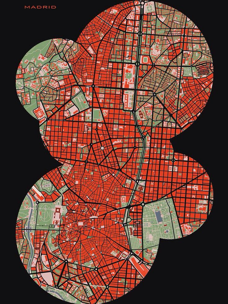 Madrid city map classic by PlanosUrbanos 287