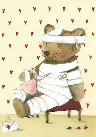 Postkarte mit Illustration von Silke Leffler