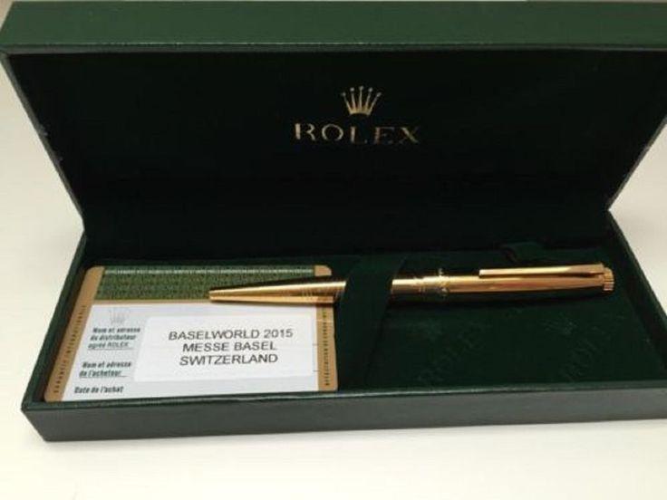 Original Rolex Baselworld 2015 gold plated waves pen... #Rolex