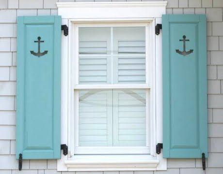 Decorative Coastal Wood Window Shutters for Curb Appeal