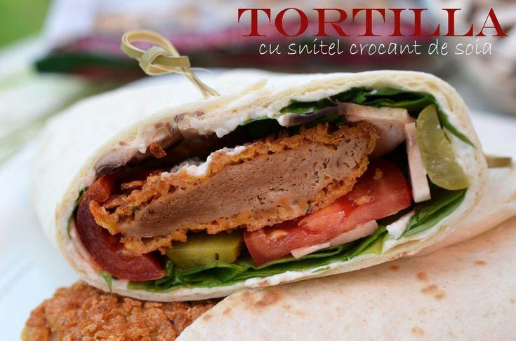 Tortilla cu snitel crocant de soia - Retete culinare by Teo's Kitchen