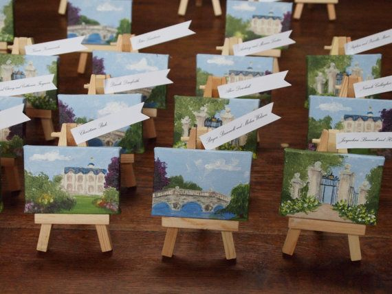 Mini Easel Painting Wedding Favors / Escort Cards