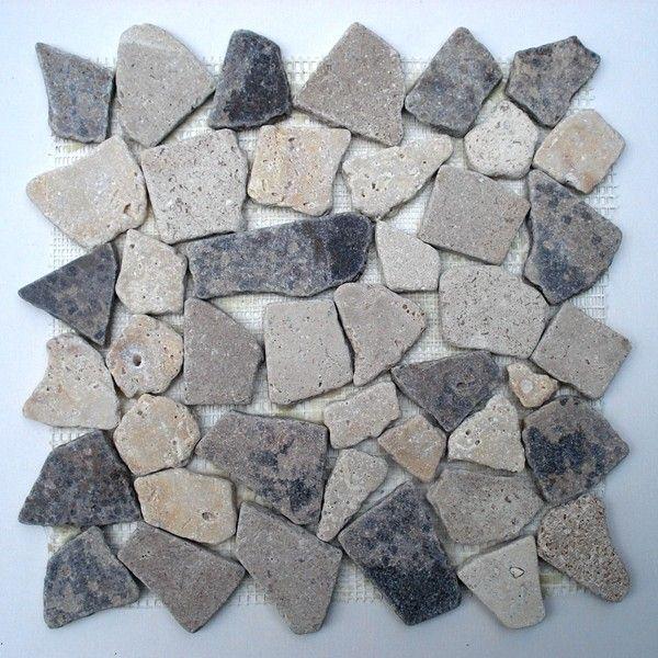 Mozaïek gebroken graniet gemixed bruin