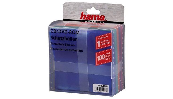 CD-/DVD-Schutzhüllen 100, CD Sleeves, Farbig
