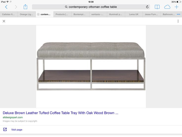 Idea of Ottoman coffee table - bespoke with shelf below. Take out middle vertical if possible