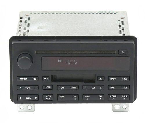 Lincoln Aviator 2003-2005 Radio AM FM Cassette Single CD Receiver 4C5T-18C868-AB