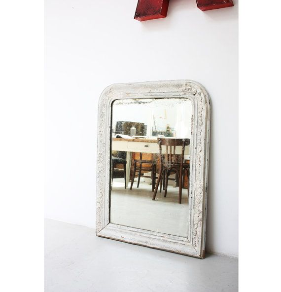 Grande Specchio francese di inizio '900 decorato #mirror #oldmirror #frenchmirror #vintagestyle #vintagefurniture