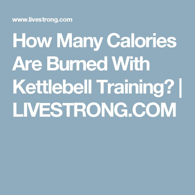 How Many Calories Are Burned With Kettlebell Training? | LIVESTRONG.COM