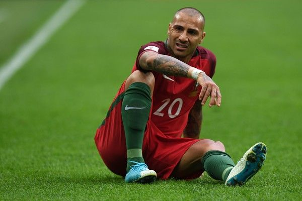 Portugal's forward Ricardo Quaresma reacts during the 2017 Confederations Cup group A football match between New Zealand and Portugal at the Saint Petersburg Stadium in Saint Petersburg on June 24, 2017. / AFP PHOTO / Kirill KUDRYAVTSEV