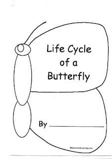 Life Cycle of a Butterfly booklet  Writing Center option