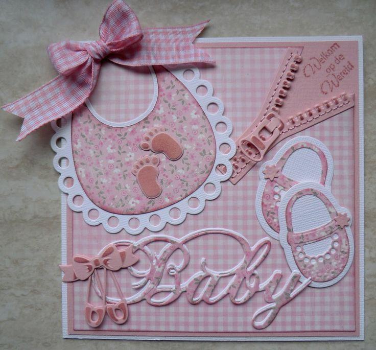 Шаблон открытки для новорожденной девочки