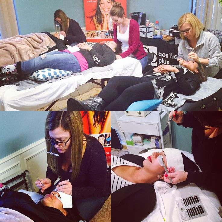Thank you to all of our Lash Extension rockstars in yesterday's Bella Lash extension certification class. Students got a full days of knowledge, theory, training, hands on, and shopping! If you're interested in Lash Extension Classes call us at 800-535-0221, email caitlin@aesthetics-plus.com or visit www.aesthetics-plus.com for upcoming training dates.