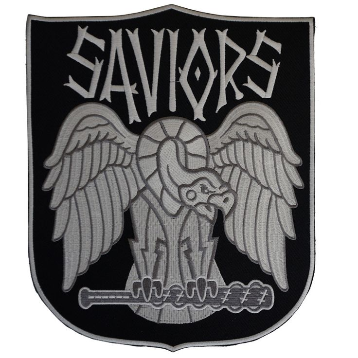 """THE WALKING DEAD Saviors Faction 10"""" Patch"""