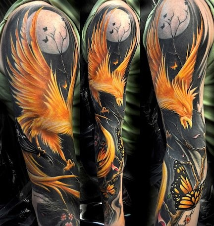 Phoenix Tattoo. this one makes me want color