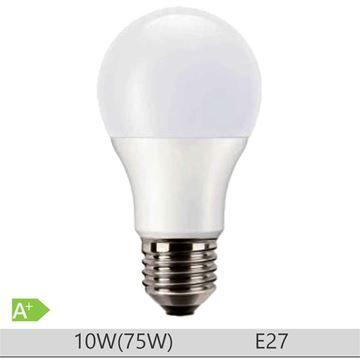 Bec LED PILA 10W E27 forma clasica A60, lumina neutra