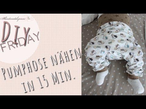 Nähanleitung für Anfänger //Pumphose für Babys/Kleinkind in 15 Minuten// DIY Friday *Handmadebyanni - YouTube