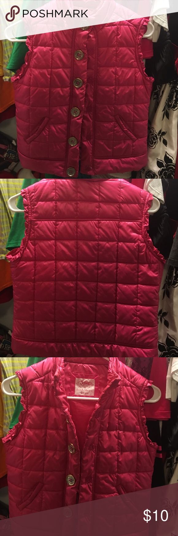Valentine's Special. Girls pink vest. Good condition. No rips, tears and minimal wearing. Size 12 Jackets & Coats Vests