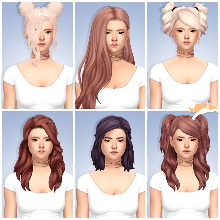 Sims 4 Hairstyles: 27 Best Sims 4 Hair Female: Maxis Match Recolor Images On