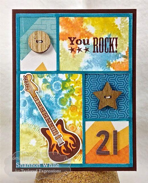 You Rock 21st Birthday Handmade Greeting Card