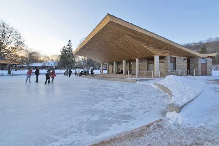 The ice rink at Dundas Driving Park is the work of Lintack Architects. John DeSimone is a senior architect there. www.lintack.com