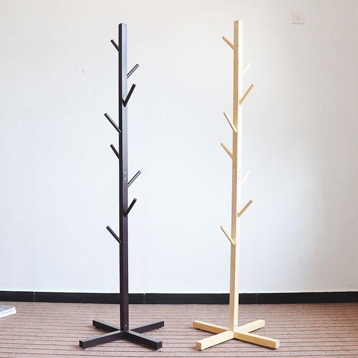 Venta caliente De BRICOLAJE de Madera Perchero de Pie Ecológico Muebles Para El Hogar Colgar la Ropa En Forma de Árbol Perchero