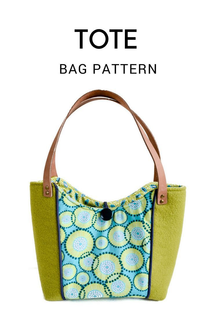 Spring Blooms Tote Bag - Free Pattern, Wool Tote Purse | Bag Sewing ...