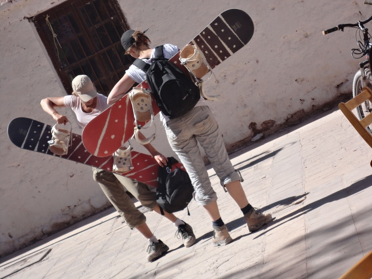 Sandboards...en San Pedro de Atacama