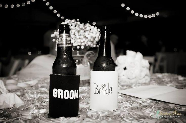 FREE Bride and Groom #koozies with EVERY wedding #koozie order at www.totallyweddingkoozies.com!