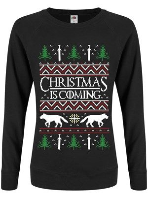 No we're not playing games - Christmas is coming, and we're super excited! Combine two of the best things in the world (Game of Thrones and Xmas, duh) with this awesome traditional style black Christmas jumper! Inspired by the hit HBO TV show, this jumper comes complete with wolves and swords, as well as the iconic GOT font!