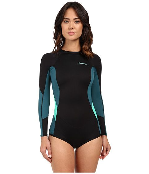 O'Neill Skins Long Sleeve Surf Suit Black/Deep Teal/Seaglass - Zappos.com Free Shipping BOTH Ways