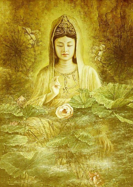 Kwan Yin,goddess of compassion and mercy and supposedly my guardian angel.