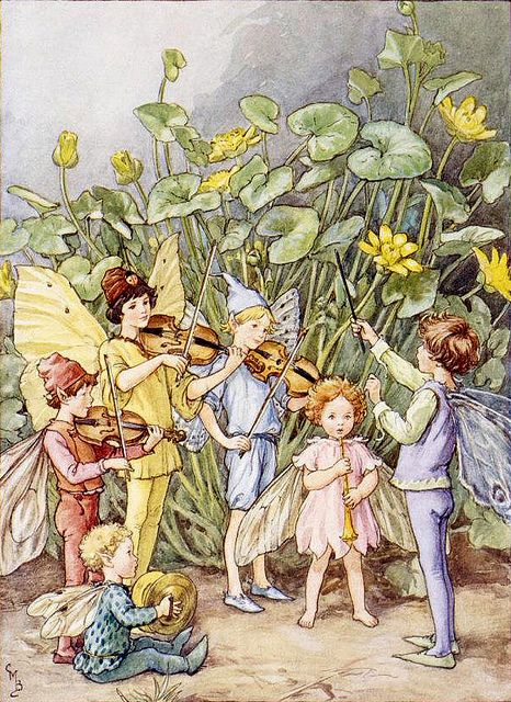 """Cicely Mary Barker , """"The Fairy Orchestra"""" (variant 2) 