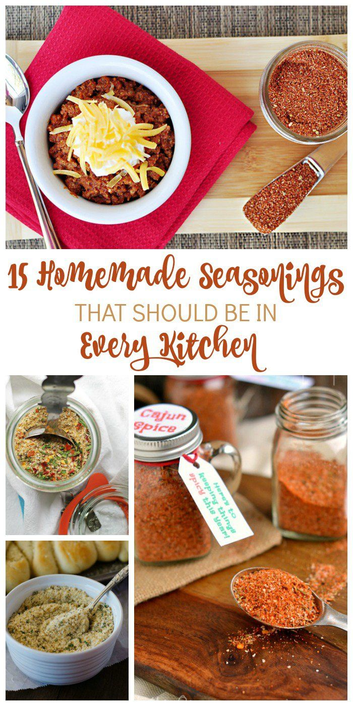 Every realize to late you were out of an important seasoning? No more do you need to rush to the store in the middle of cooking. Check out these homemade seasonings that can save your dinner and your budget.