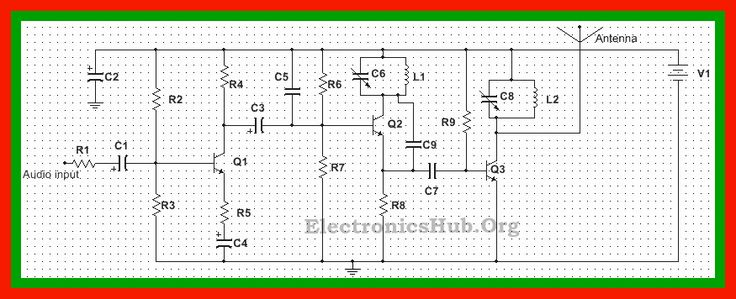 Circuit Diagram of FM Transmitter