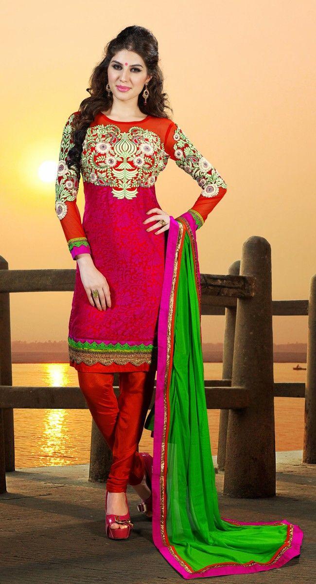 Glamorous Crimson Salwar Kameez  $73.00