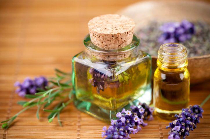 óleos essenciais caseiros. Método de arraste pó imersão em óleo de oliva de boa qualidade