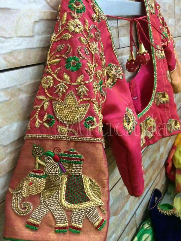 Colourful and artistic Indian Embroidery.