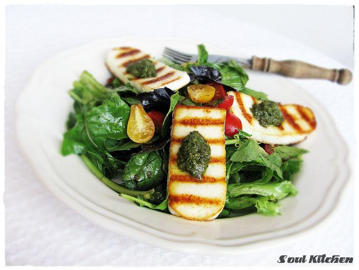 Lélekkonyha:Grillezett kecskesajtos saláta