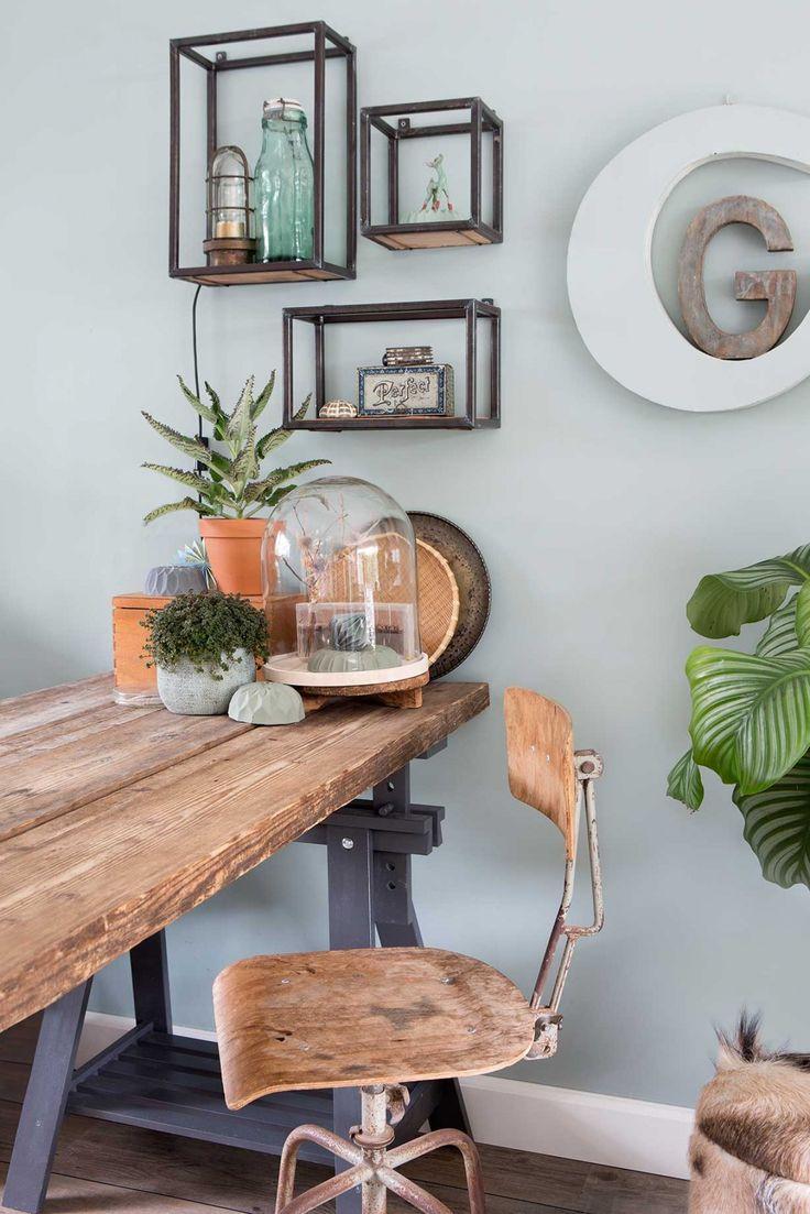 Meer dan 1000 idee n over appartement muur decoreren op pinterest muur planken decoratie - Deco originele muur ...