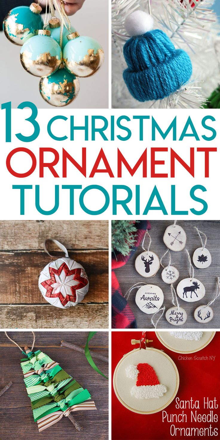 13 DIY Christmas Ornament Tutorials