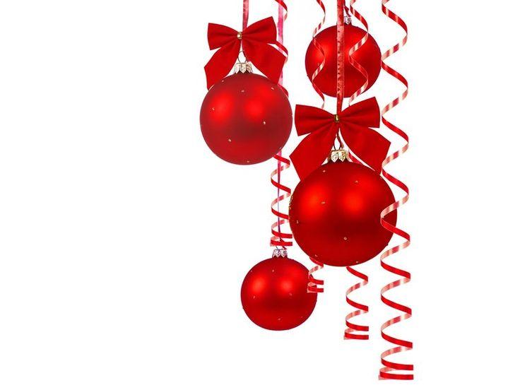 Μπάλες, νέο έτος, σερπαντίνες, πούλιες, τόξα, κόκκινο διανυσματικό