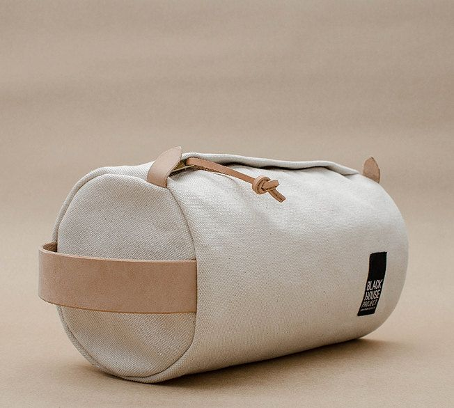 Duffle Dopp Kit 18oz Natural Duck Canvas by BLACKHOUSEPROJECT