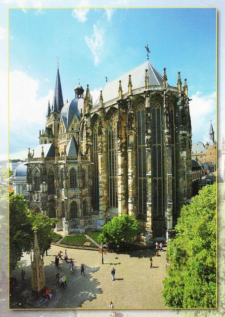 "Aachen Cathedral, frequently referred to as the ""Imperial Cathedral"",is a Roman Catholic church in Aachen, Germany (UNESCO WHS)"
